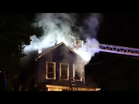 MANVILLE NEW JERSEY WORKING FIRE 10/18/18 SOMERSET COUNTY VACANT HOUSE FIRE