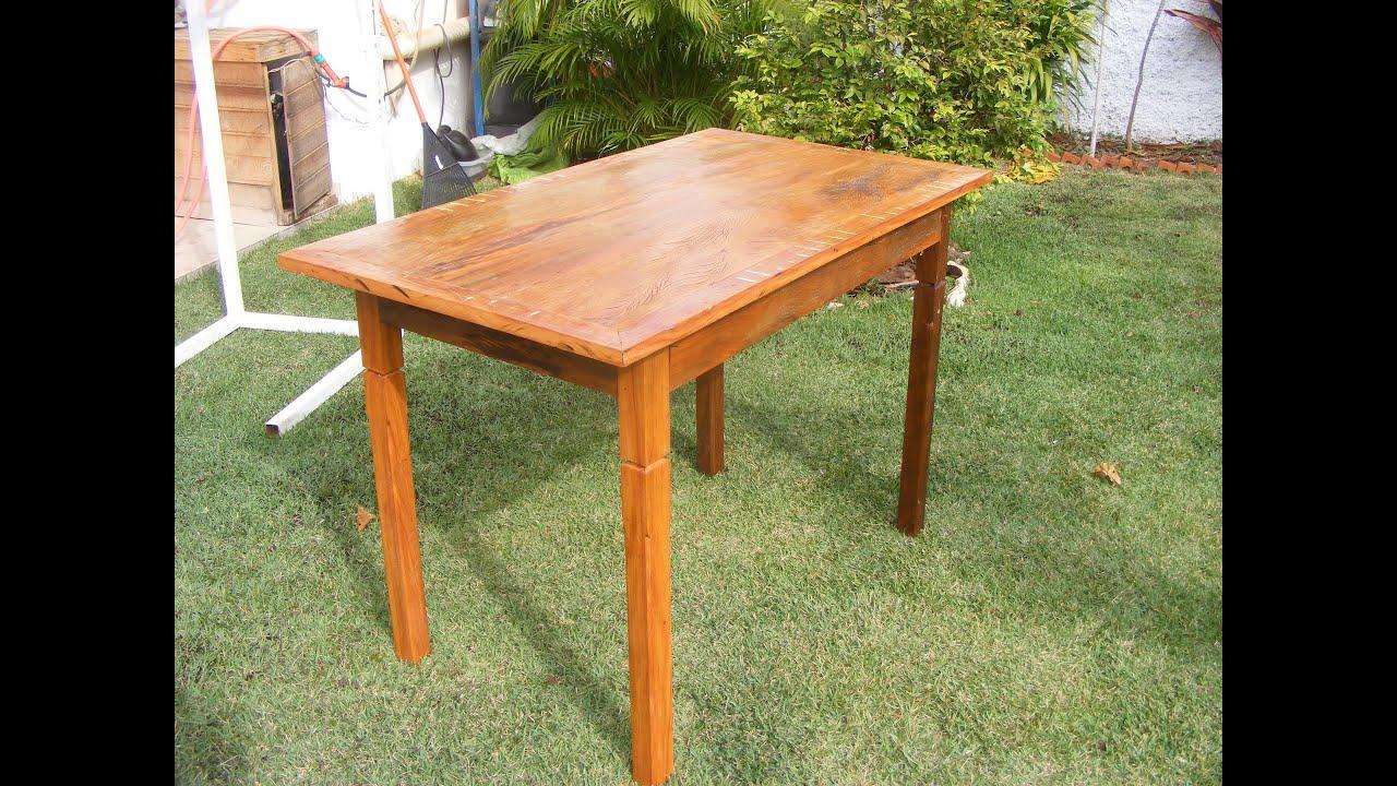 MARCENARIA Mesa de madeira de demolição   #A86023 3000x2250