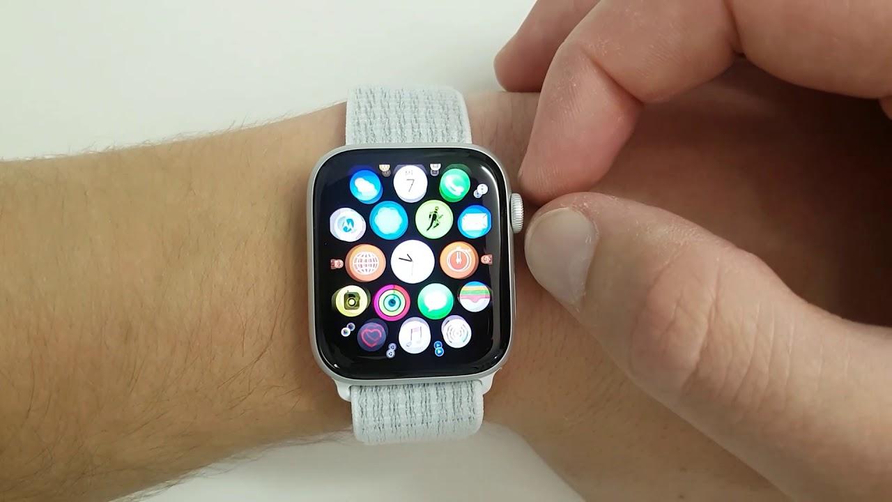 Apple Watch Series 4 Summit White 44 mm Nike Sport Loop