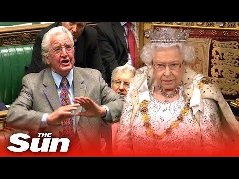 Dennis Skinner HECKLES Black Rod Before Queen's Speech