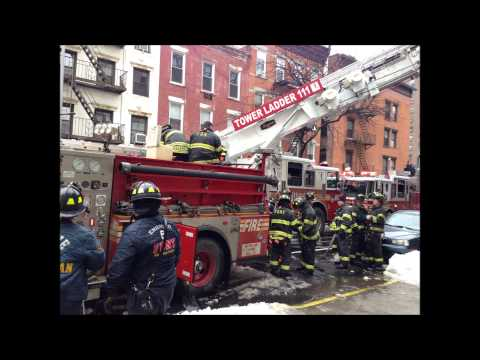 "FDNY ON SCENE OF A ""ALL HANDS"" AT 21ST ST. & 1ST AVE. IN KIPS BAY, MANHATTAN IN NEW YORK CITY."