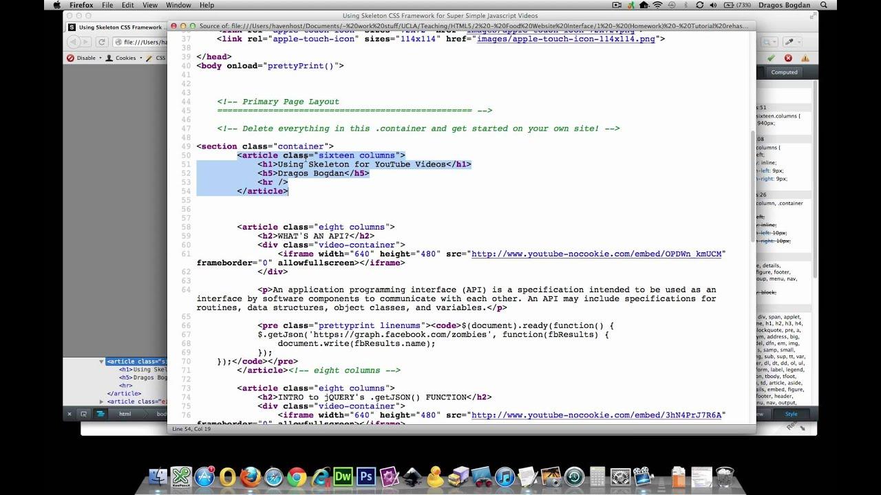 (1/11) Intro to Skeleton CSS Boilerplate - YouTube