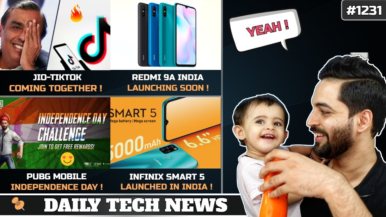 Jio-Tiktok Combined India,PUBG Mobile Independence Day,Redmi 9A India Launch,Infinix Smart 5 #1231