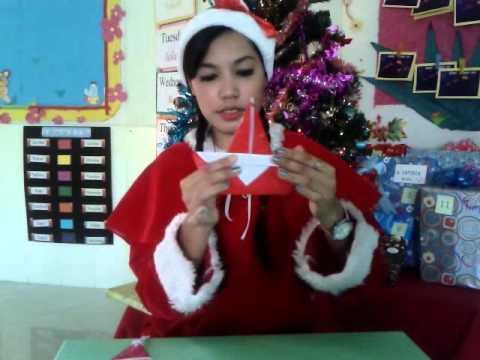 พับซานตาครอส กับครูฝน