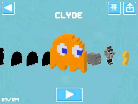 Crossy Road Gameplay As PACMAN 256! Getting Clyde The Orange Ghost! Time For Tech And Games
