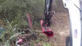 Testing Out The New Torrent Mulcher! Bobcat 337 Mini Excavator Forestry Midi