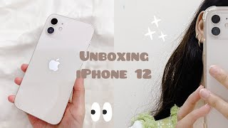 iPhone 12  white🤍 unboxing + accessories✨
