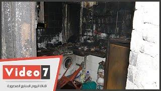 شاهد شقة الطالبة اليمنية منى مفتاح بعد إحراقها في مصر