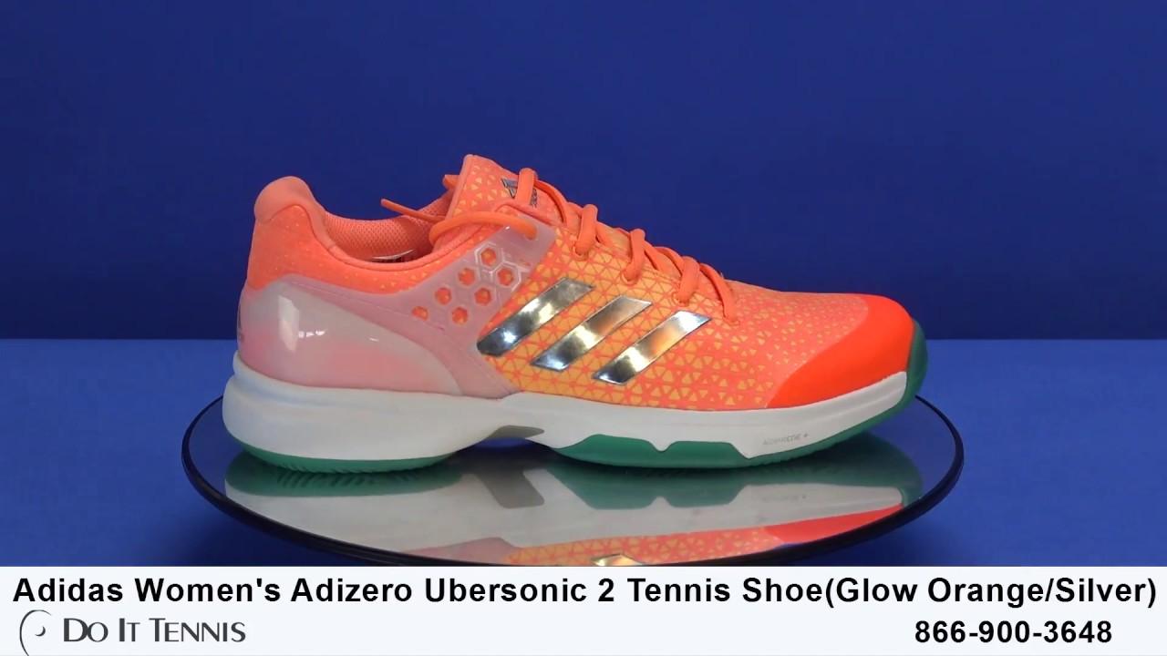 Adidas Women s Adizero Ubersonic 2 Tennis Shoe - YouTube b348f8aed