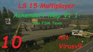 LS 15 Multiplayer Ackendorf #10 Mähdrescher in Akion [german/deutsch]