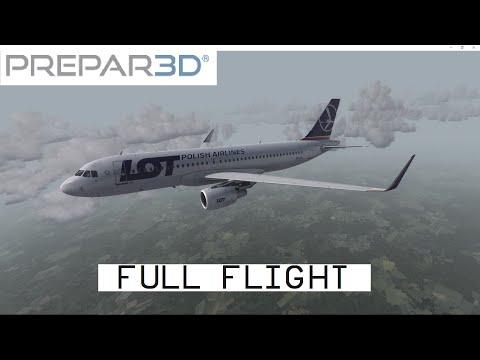 [P3D] Tallin EETN - Warsaw EPWA | LOT788 | A320 Full Flight (HD)