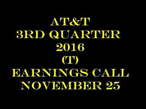 AT&T (T) Third Quarter Earnings Call 2016