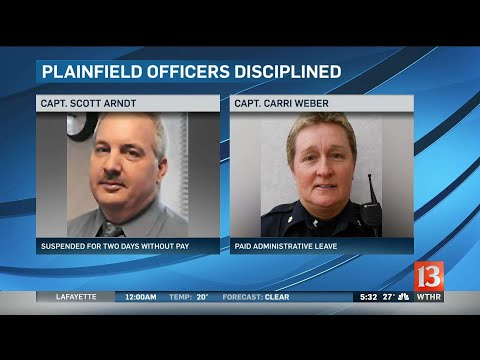 Plainfield police officers disciplined