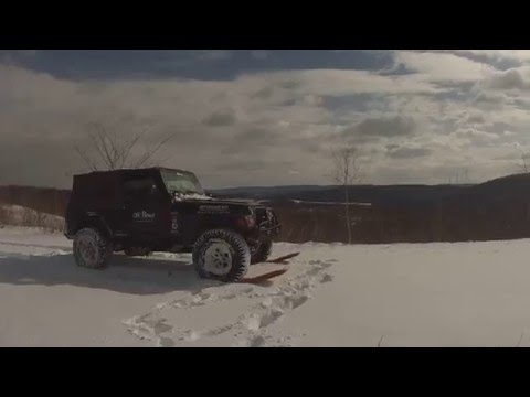 Off Road Consulting Maxtrax test in snow