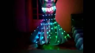 Пиксельный костюм, лиф,пояс и юбка/ LED pixel suit, bodice + belt + skirt