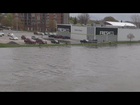 High Water Levels In Ontario - Footage From Trenton Ontario