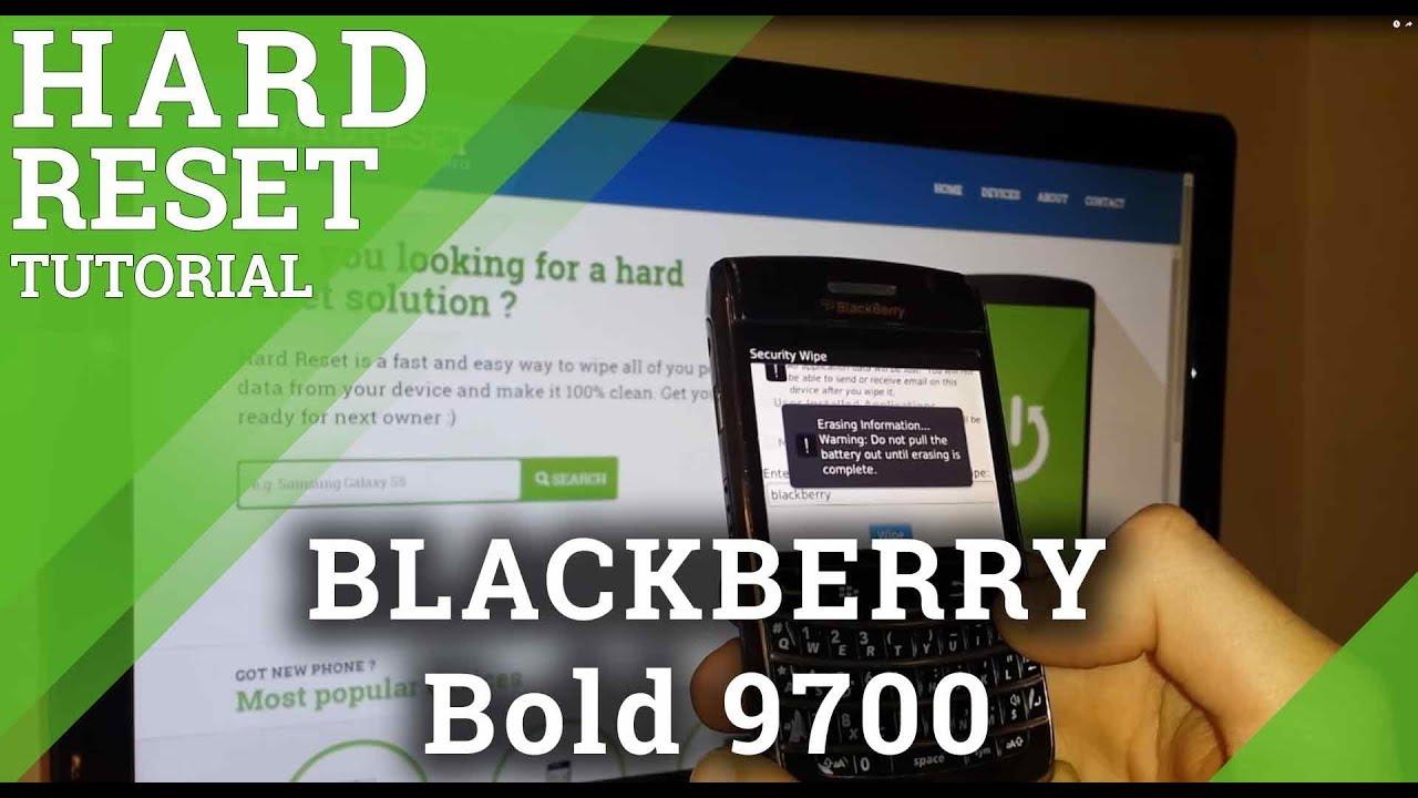 Hard Reset BLACKBERRY 9000 Bold - HardReset info
