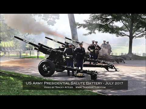 Army Presidential Salute Battery Full Honors Video by Tracey Attlee