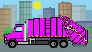 garbage truck for kids learn english colors   learning garbage truck colours   teaching basic colors