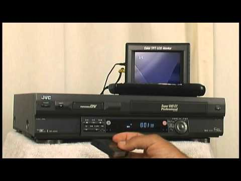 Pre-Auction Testing of JVC SR-VS30U Dual Deck MiniDV / S-VHS