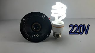 New Easy Make Free Energy Generator Device With Speaker Magnet Electric Self Running For Generator A