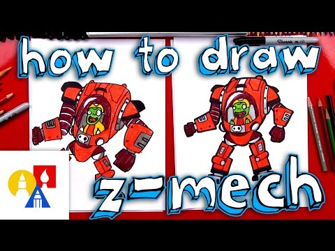 how to draw plants vs zombies characters