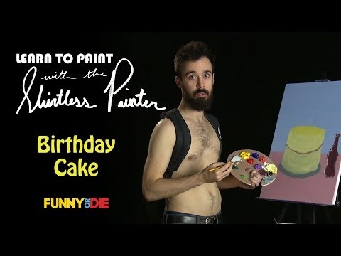 How To Paint A Birthday Cake