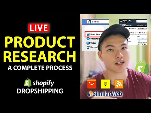 Shopify Dropshipping: Product Research LIVE! ( (How I find $100,000+ Winning Products) thumbnail