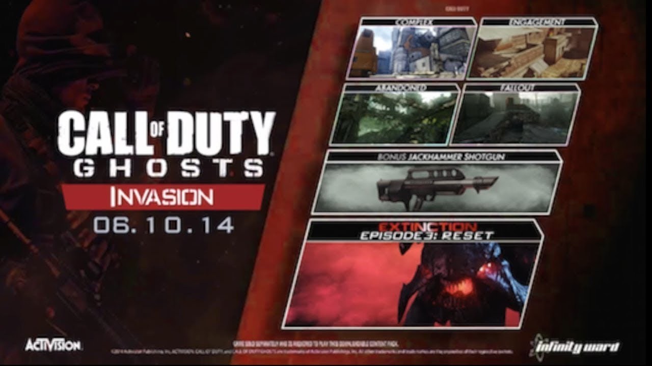 Call Of Duty Ghosts Invasion Dlc Release Date Announced June 3 And
