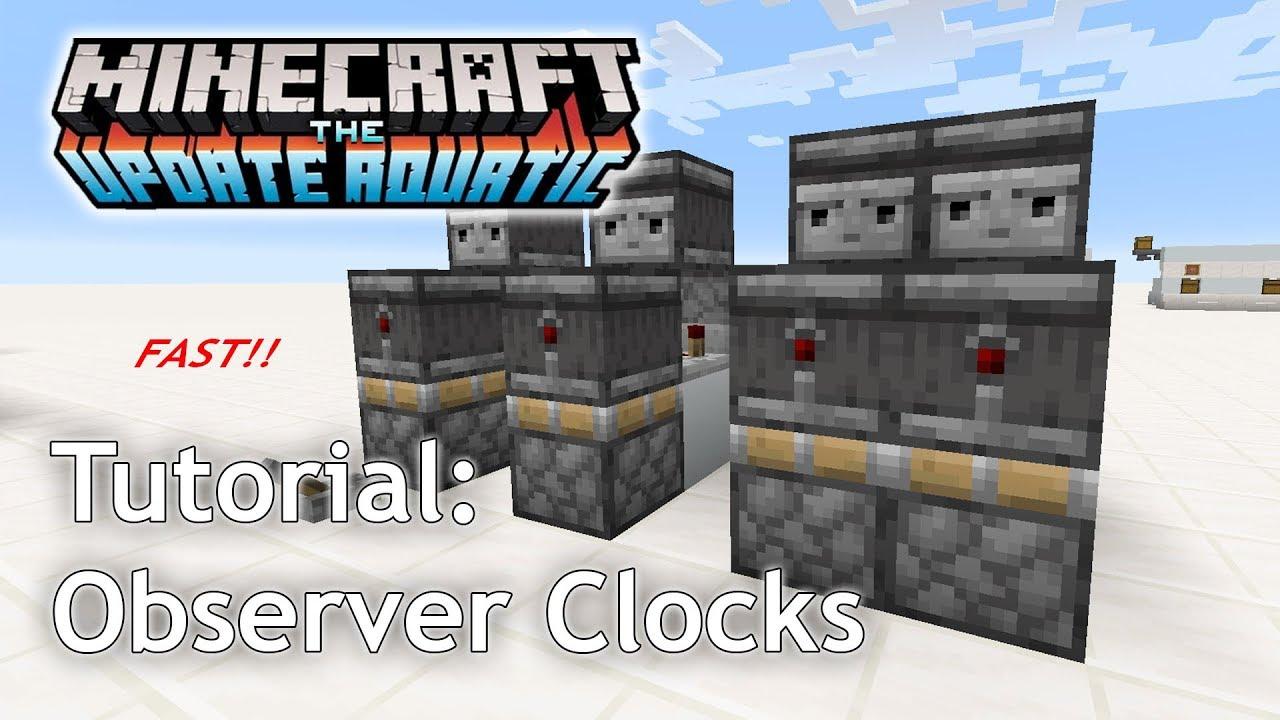 Minecraft Tutorial: Observer Clocks