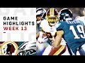 Redskins vs. Eagles Week 13 Highlights | NFL 2018