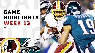 Redskins Vs Eagles Week 13 Highlights Nfl 2018