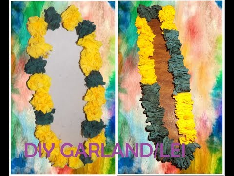 DIY Quick & Easy Crepe Paper Lei/Garland for Graduation