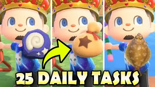 25 Things To Do EVERY DAY In Animal Crossing New Horizons!  BEST Daily Tasks Guide!