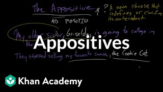 Appositives | Punctuation | Grammar | Khan Academy
