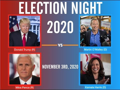 2020 Election Night  Martin O'Malley vs Donald Trump