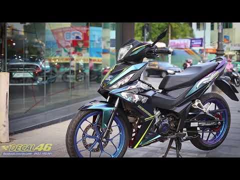 DECAL46 | Tem xe Winner 150 – thiết kế Fox titanium chuyển sắc