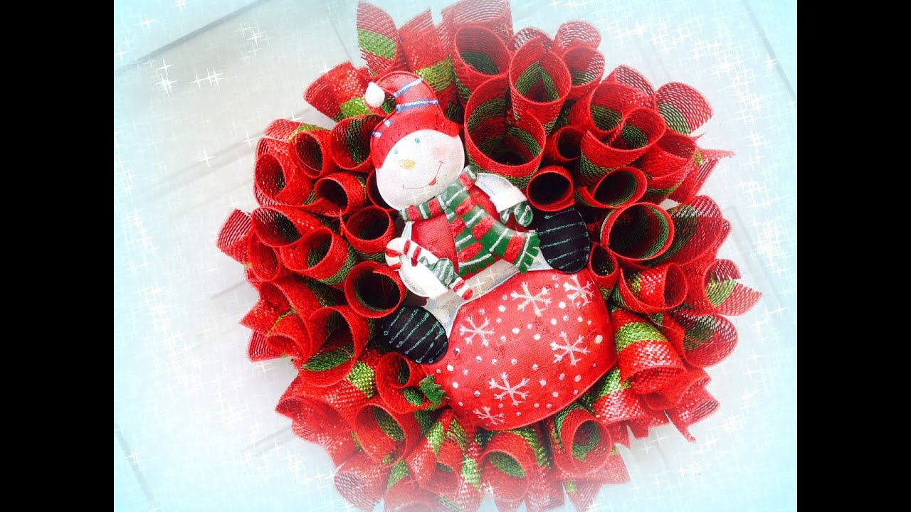 Make Out Deco Mesh Christmas Wreaths