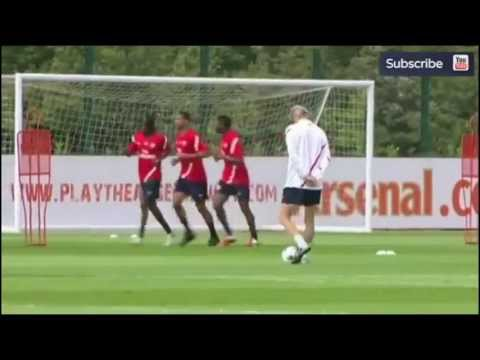 Arsene Wenger Amazing Skills in Training