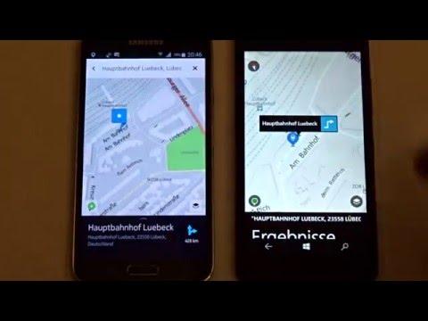 HERE Maps Auf Android Vs. Windows 10 Mobile - Download, Kartengröße, Offlinemodus