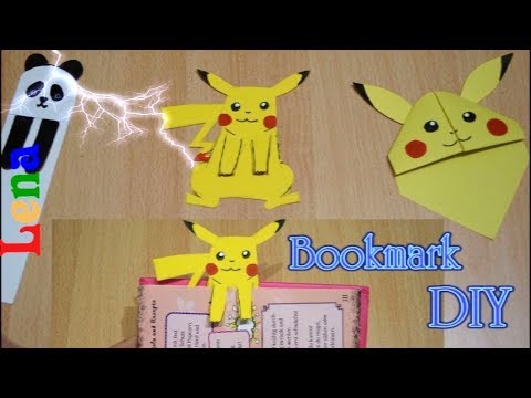 Pikachu Lesezeichen Selber Machen  - Pikachu Bookmark Diy - Закладка для книг из бумаги