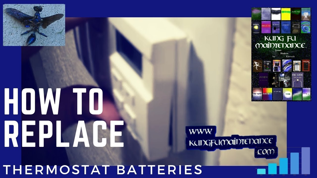 how to replace thermostat batteries [ 1280 x 720 Pixel ]