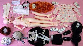 ★구체관절인형 사돌 소담 개봉기/엠딩이후기/가발,옷입히기★Ball Jointed Doll SADOL Cutie40 Basic Sodam Unboxing/Doll Dress Up