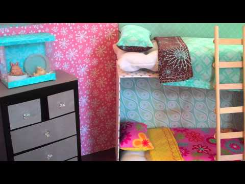 How to Make Doll Bunk Beds Easy  YouTube