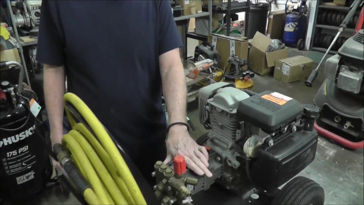 How to troubleshoot a pressure washer