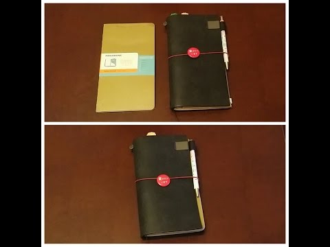 Moleskine Chapters Journal and Midori Traveler's Notebook