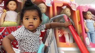 THERE WERE NO BLACK DOLLS IN TARGET FOR HER :(