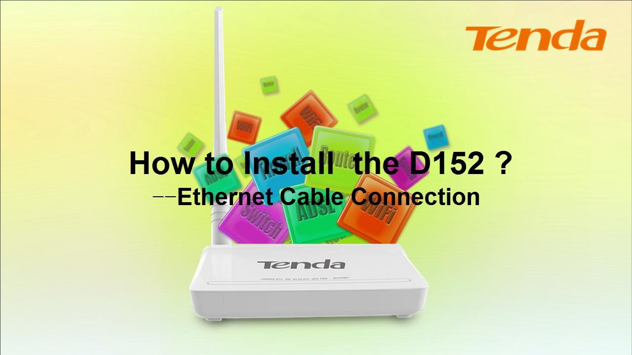 How To Install Tenda D152 Ethernet Cable Connection Youtube Wiring