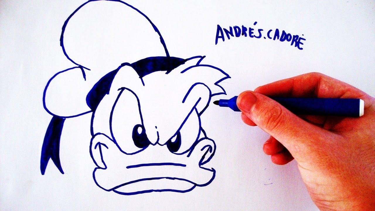 Como Desenhar O Pato Donald Face How To Draw Donald Slay