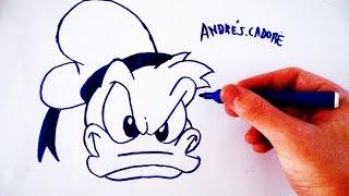 Como Desenhar o Pato Donald (Face) - (How to Draw Donald) - SLAY DESENHOS #90
